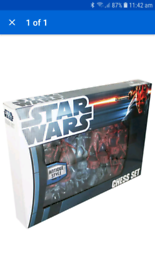 Star wars chess set antique style