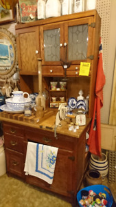 Antique Hoosier with ice box & slide out table