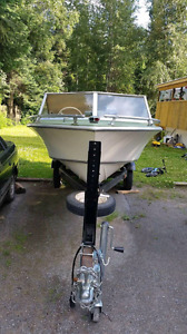 16ft boat and 65hp evinrude