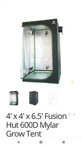 Indoor grow tent for herbs and vegetables