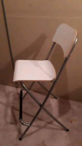 Never used ikea foldable 4 bar stools / chairs