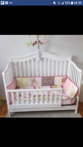 ALL INCL. BABY CRIB (4 IN 1) + MATRESS + BED SET