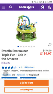 550ff59df Evenflo Exersaucer Triple Fun