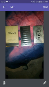 NEW Armani and Burberry fragrances mens cologne for sale!