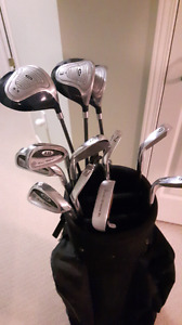 Set of golf clubs with carry bag