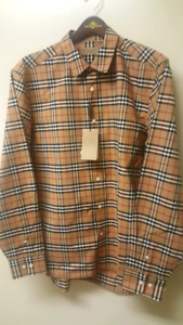Brand New Burberry Camel Check Shirt XL/XXL 100% Authentic