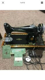 Wonderful vintage 201K SINGER Sewing heavy duty Machine with accessories for home use