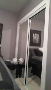 Mirrored bypass closet doors 5'