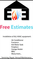 Furnace, Fireplace, Gas Appliance repairs and more.