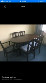 Large mahogany dining table extendable