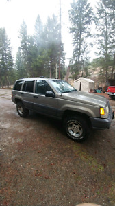 96 Grand Cherokee (cheep).  Great for camping or hunting rig..