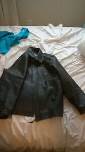 Mens Dark Brown Leather JAcket From South Africa Prince George British Columbia image 3