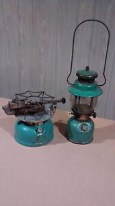 ANTIQUE COLEMAN STOVE & LANTERN