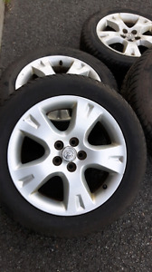 4 mags on summer tires 205 55 16 Toyota