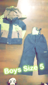 Boys Size 5 Winter Snow Suit