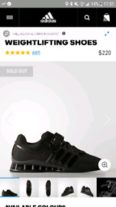 Adidas powerlifting CrossFit shoes size 11 brand new