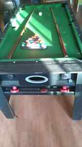 Pool table/air hockey combo