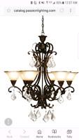 Bronze chandelier by Artcraft model#AC1830