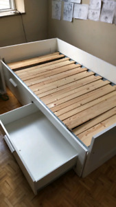 Expandable Twin Bed with Storage