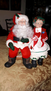 SANTA AND MRS CLAUS ** Animated and Vintage