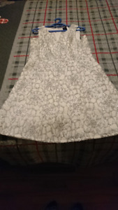 Gorg. All white Rock and shine dress size 15 from Reitmans
