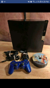 Ps3 slim 29games all cords n 1 blue controller