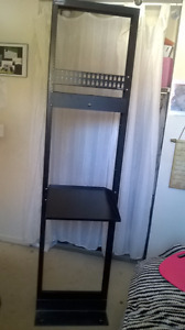 Like new Electron Metal equipment rack with accessories