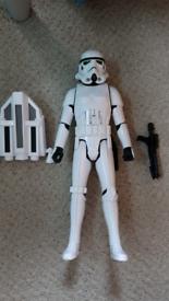 Star Wars stormtropper talking toy figure