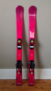 Kids ski set - skiis with bindings and boots.