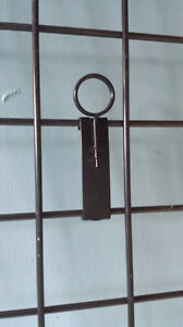 Gridwall Store Fixtures Black Sign Holders Clip On