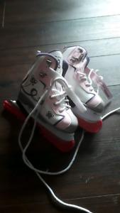 Size 1 girls Reebok skates