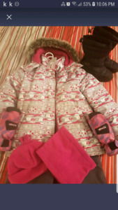 Girls snow suit size 8 ..carters oshkosh