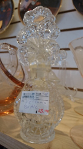 Glass perfume bottle with stopper. Just arrived.