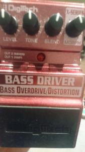 Digitech bass driver overdrive distortion pedal