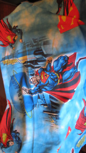 superman superhero curtains pair