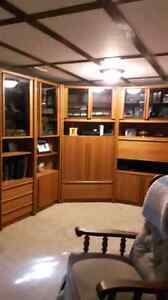 Teak entertainment cabinets . 4 cabinets in total.