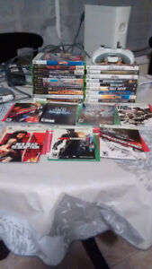 Xbox 360 console/wireless controller/games