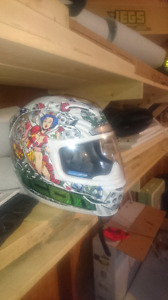 Basically new Helmet! Cool&unique Size L, $200 new. $70 takes it