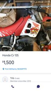 Honda cr 125 Scam / plays games