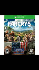 Far Cry 5 (Xbox One Version) For Sale or Trade