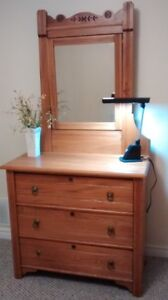 Antique set:  dresser, cabinet, headboard and footboard (double)