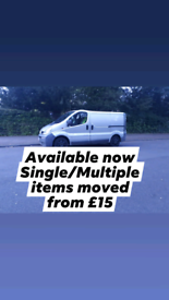 MAN AND VAN FROM £15 FULLY INSURED