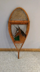 Antique stained glass snow shoe horse decoration