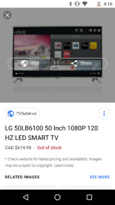 50 inch lg led smart tv with remote with wall mount