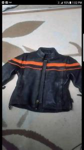 BRAND new kids leather biker jacket