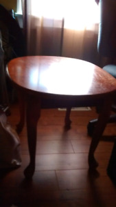 Cherry coloured side table