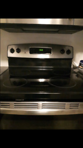 GE flat top gas stove