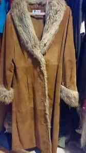 Women's suede coat,  size small