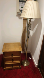 Lamp and bedside drawers