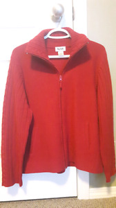 Pure Wool Zip sweater Womens sz Large